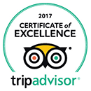 Tripe Advisor | 2017 Certificate of Excellence