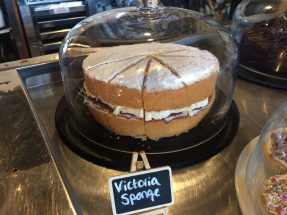 Paddock View Cafe - a home made Victoria sponge cake